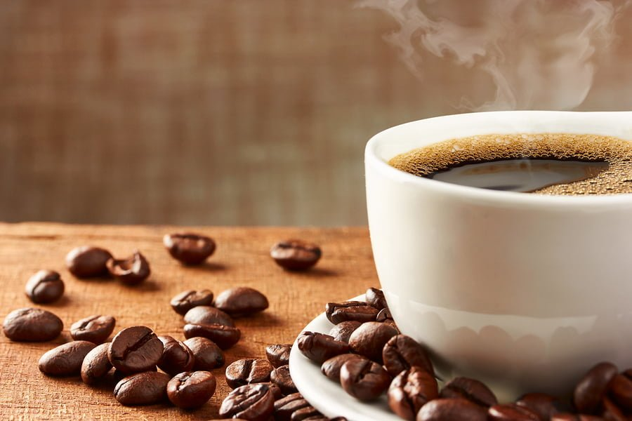 Freshly brewed coffee