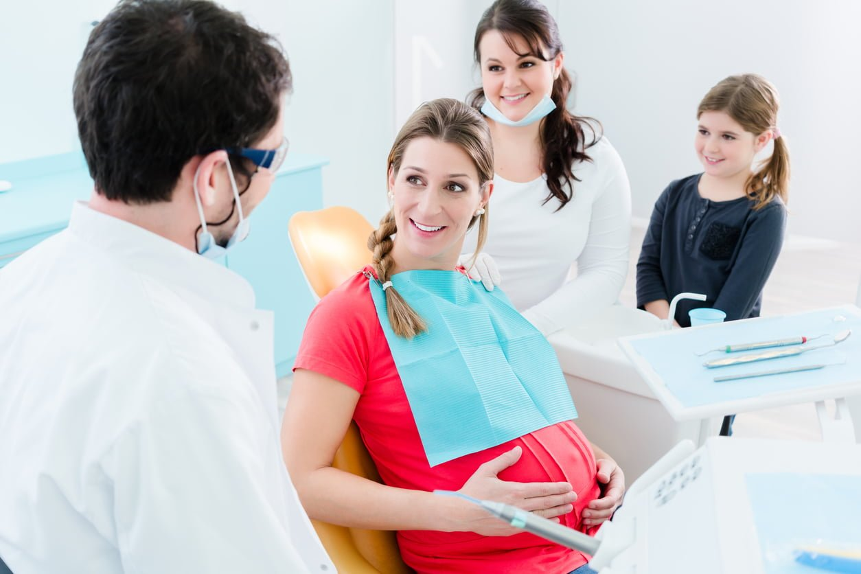 pregnant undergoing dental care